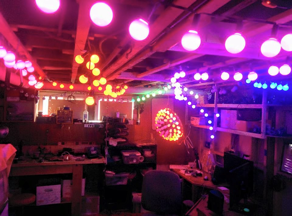 The LED lab all lit up!