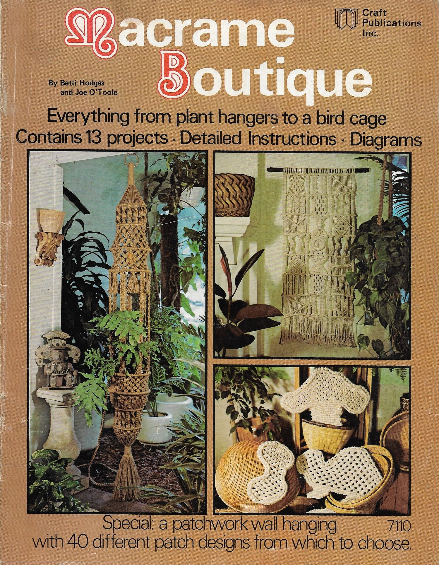 Vintage Macrame Patterns Book Macra-Hangings Etc Retro 1970s PDF Instant Digital Download Stylish Hangers Wall and Plant Hanging Decor