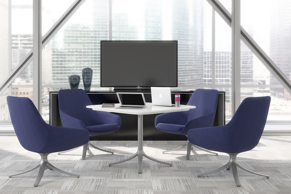 9to5 Seating Lilly Series shown with swivel base.