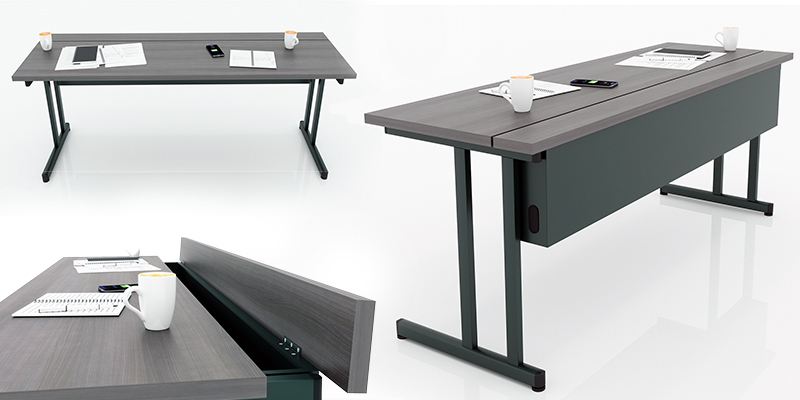 Delta Training Tables -  Features integrated storage andwire management which allowsfor cords and clamps.