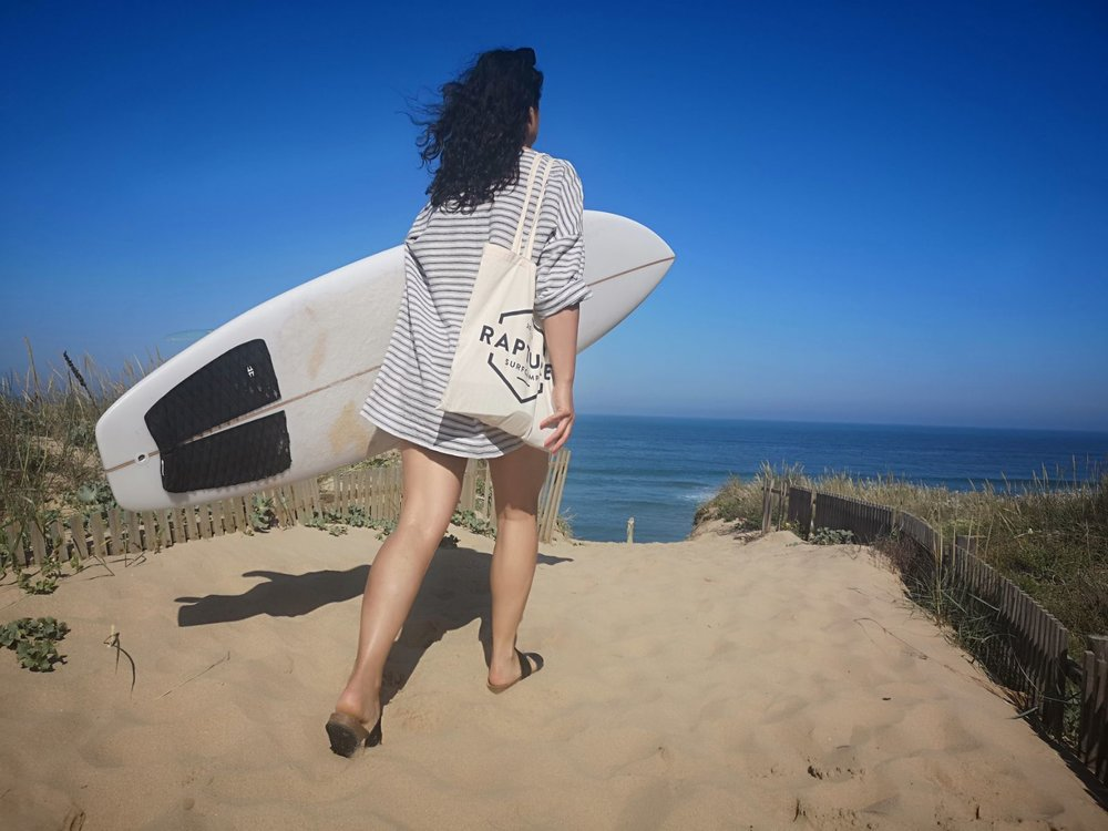 My dress hack of the LB Pullover in action. En route to the surf.