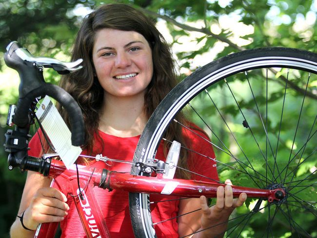 "Thomas Crosses Canada - By Brian Kelly, Sault StarWednesday, July 5, 2017 5:46:59 EDT PMThe wheels almost came off Anne Thomas' cross-country bike trek before she even left British Columbia.The native of Ottawa was never much of a bicyclist before she left Victoria, B.C., on May 21. In fact, Thomas only bought her touring bike, Caribou, a week before her national tour began.""I never thought I would get out of B.C.,"" said Thomas... read more"