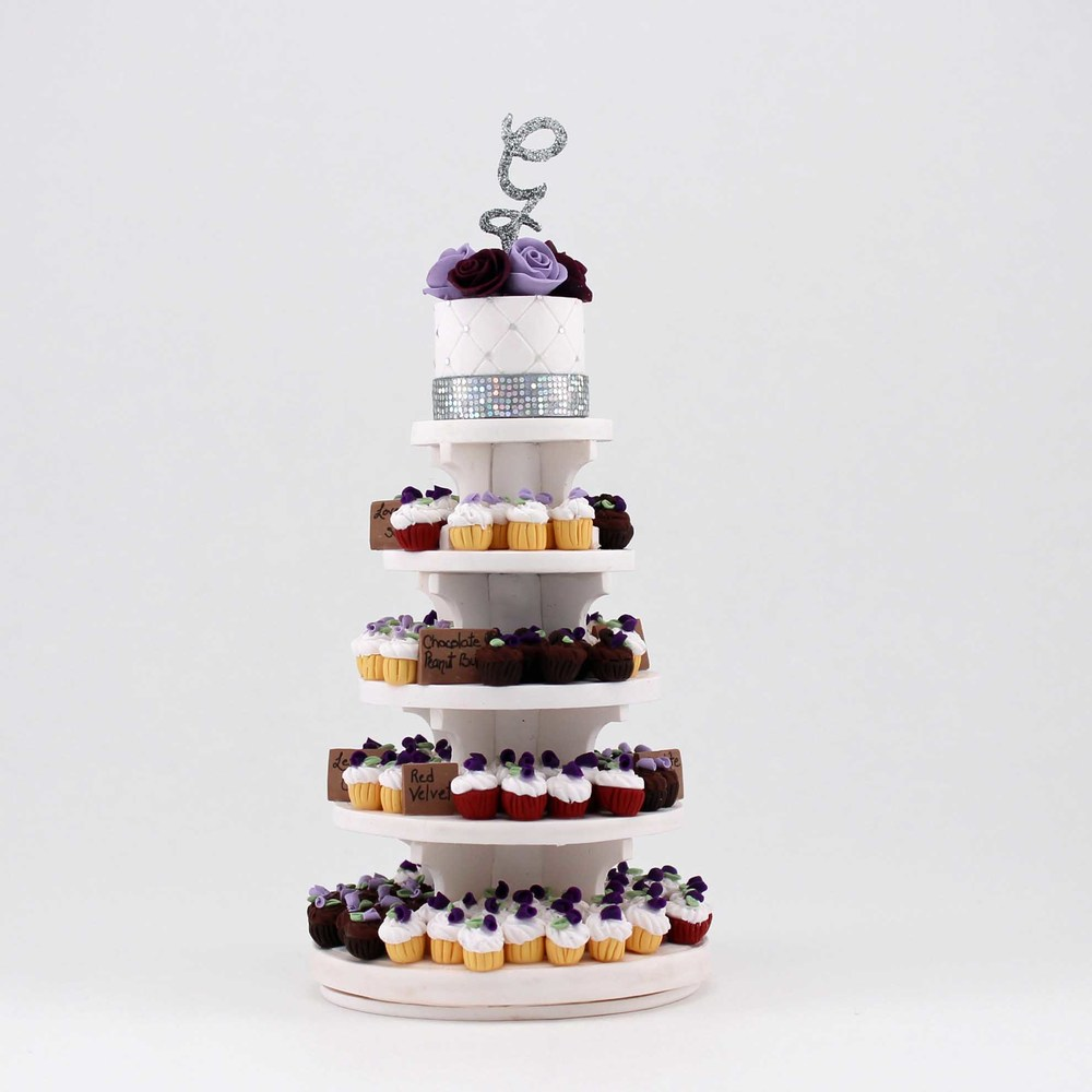 Minature replica of a Cupcake tower.jpg
