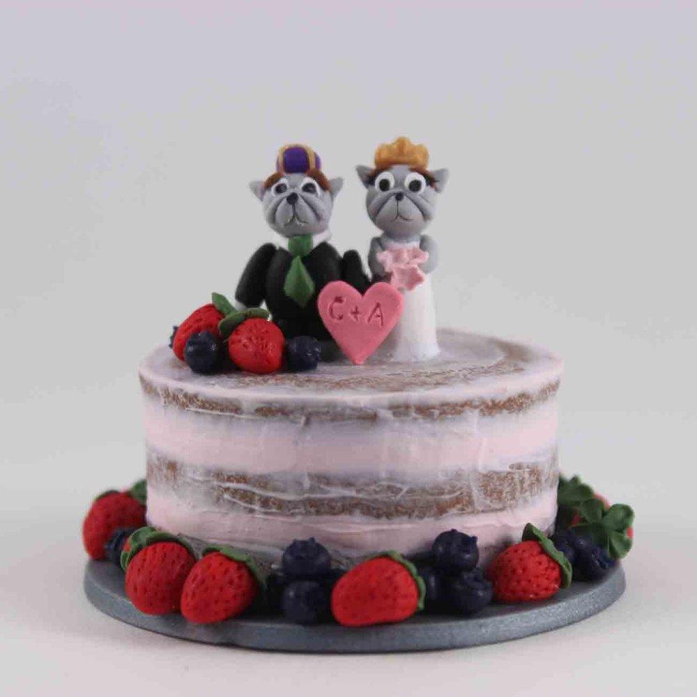 mini wedding cake with mascott cake topper.jpg