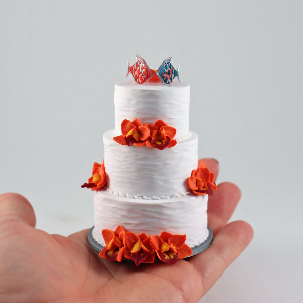 Kissing Fish Miniature Replica of a wedding cake.jpg