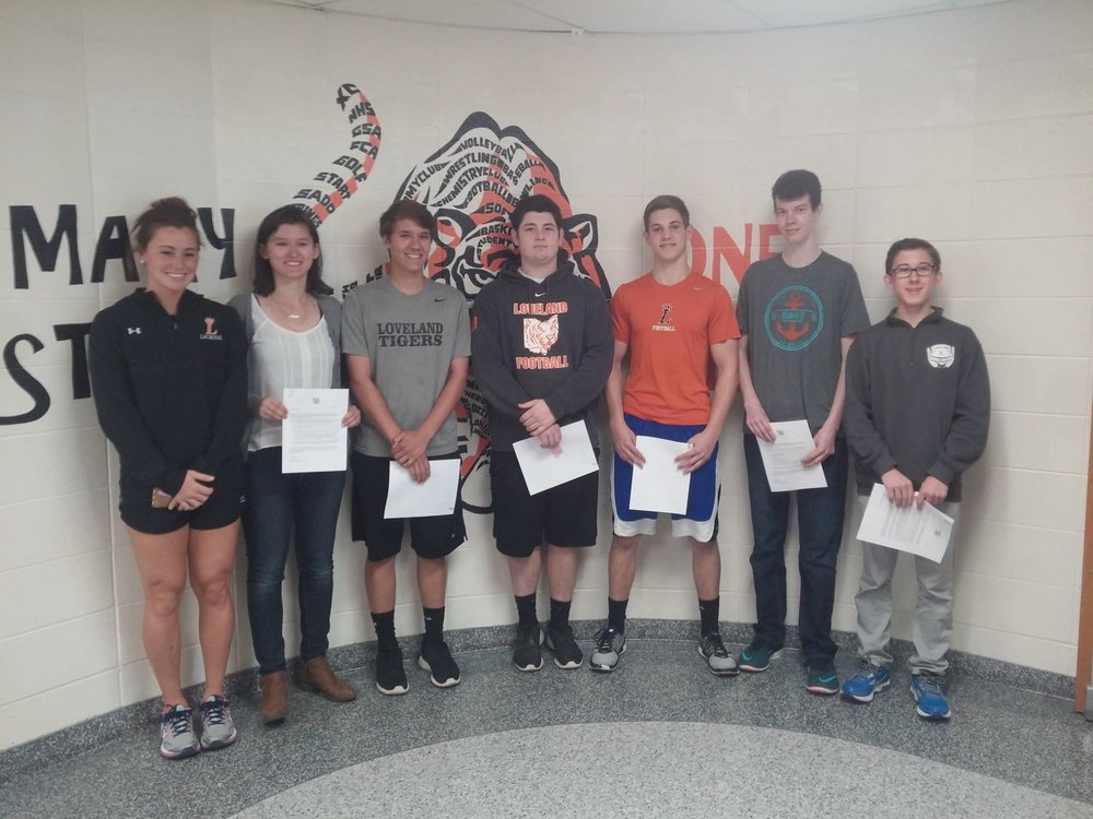 - Congratulations to eight Loveland High School students that have been selected to receive the 2017 Student Public Service Award (education category) on Fountain Square on Thursday, May 11th, 2017 for their work with NEST.