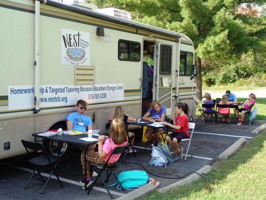 STUDENTS STUDY AS Cincinnati.com visits NEST CLC!