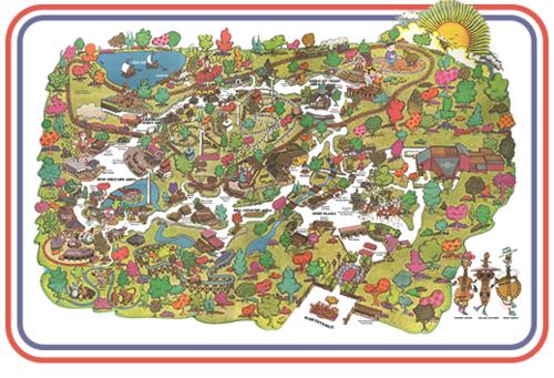 Opryland Usa Map.1972 Opryland Map Mug Opryland Usa