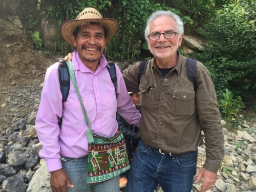 Francisco Matom Marcos, Roya Recovery Project Promoter, with Bill Fishbein, Founder and Executive Director of The Coffee Trust