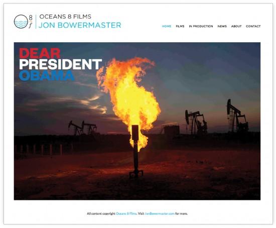 jon bowermaster oceans 8 films branding website design