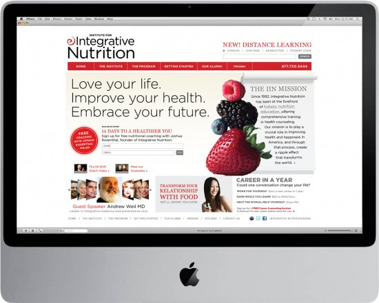 CarlaRozman_institute for Integrative Nutrition website design