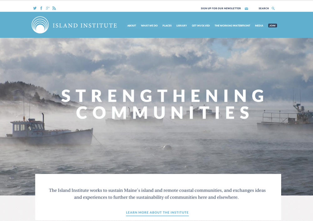 island institute logo design carla rozman graphic design