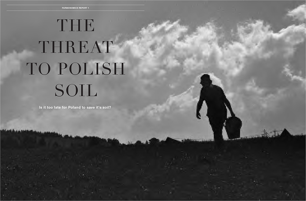 Modern Farmer Prototype Magazine Design The Threat to Polish Soil