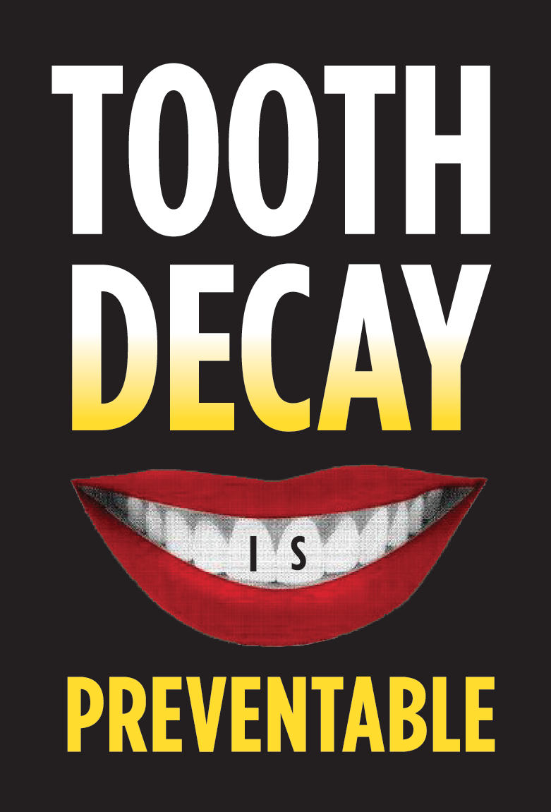 tooth decay is preventable high carbs high cavities Avid Flosser Tom Cingel DDS Dental Advice Carla Rozman Graphic Design