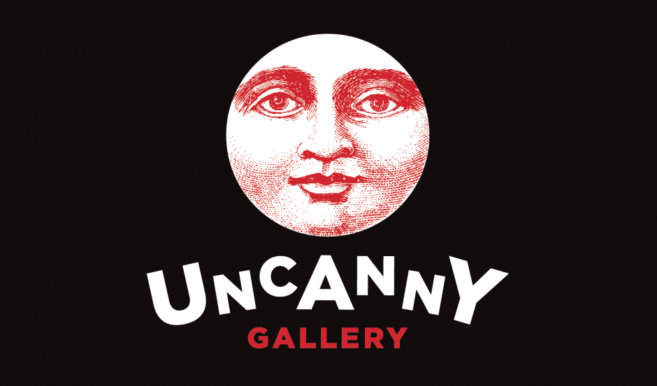 uncanny gallery kingston logo design carla rozman