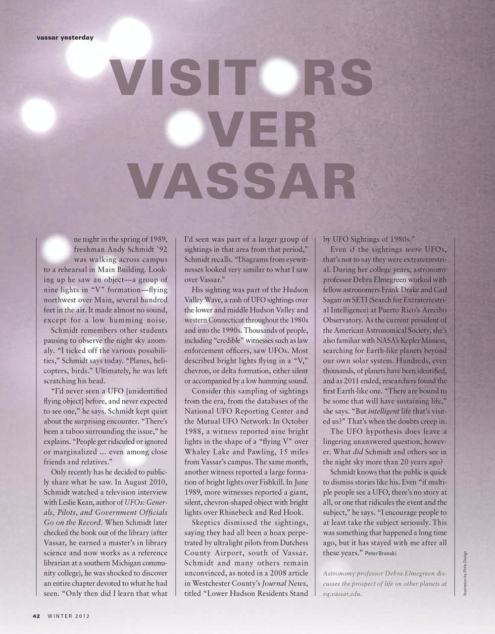 Visitors over Vassar Magazine Design