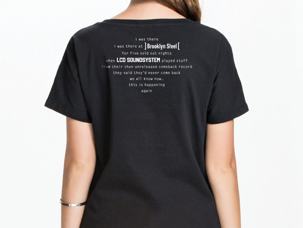 LCD Soundsystem T Shirt Brooklyn Steel 5 sold out nights This is Happening DFA Records