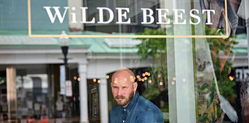 Chef Chris Turgeon in the Wilde Beest window.  Photo by Nina Duncan