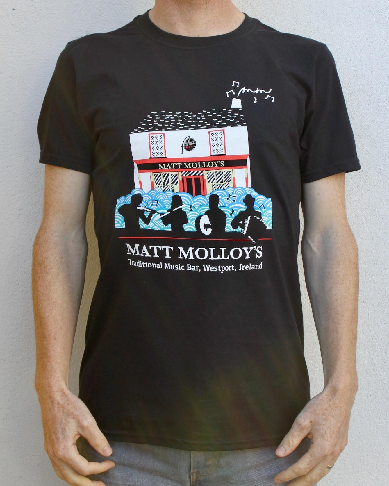 2561b72b95b Matt Molloy s Irish Pub T-Shirt ~ Black — MATT MOLLOY S