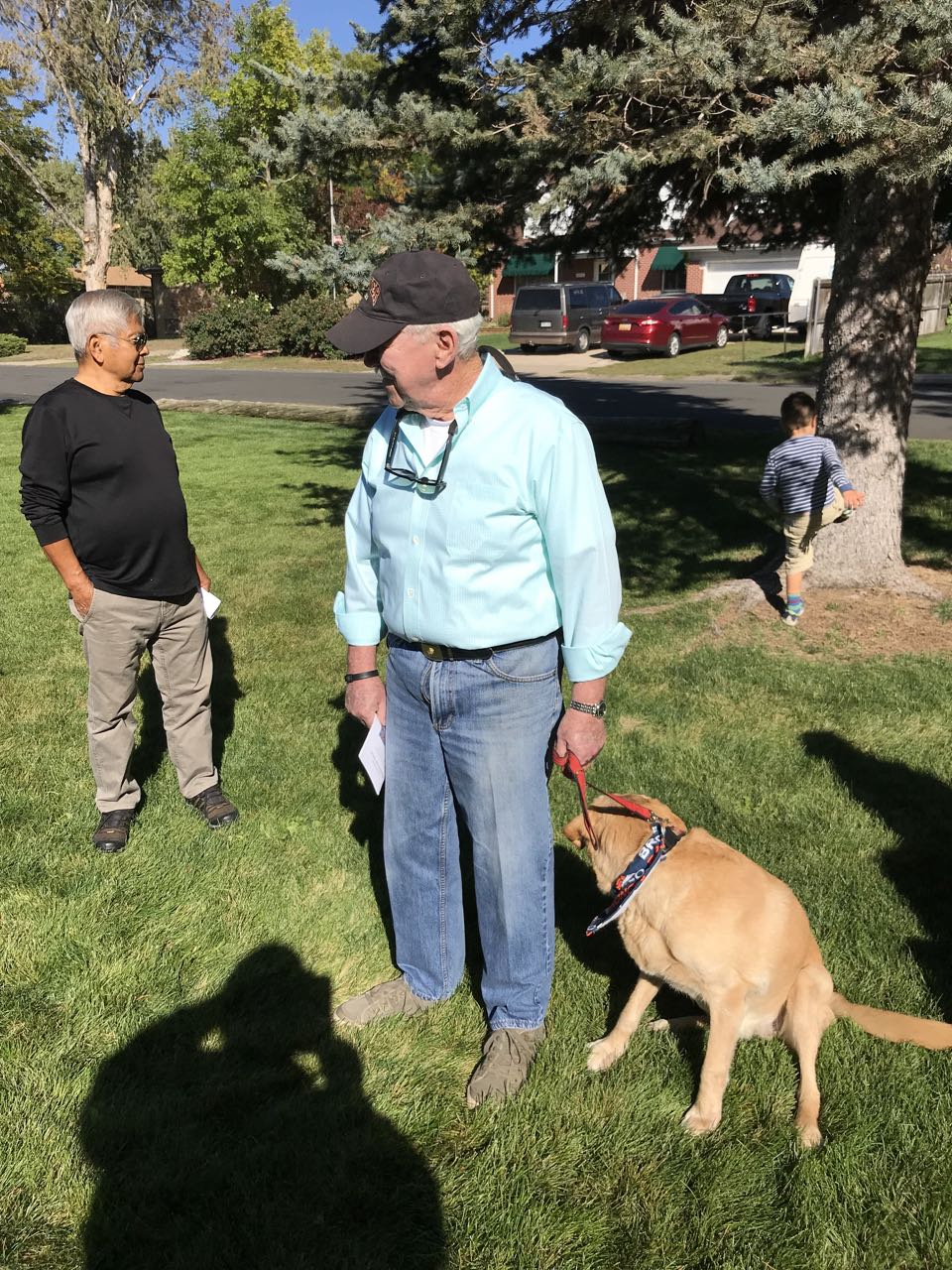 John McCormac and Daisy at pet blessing 2017.jpg