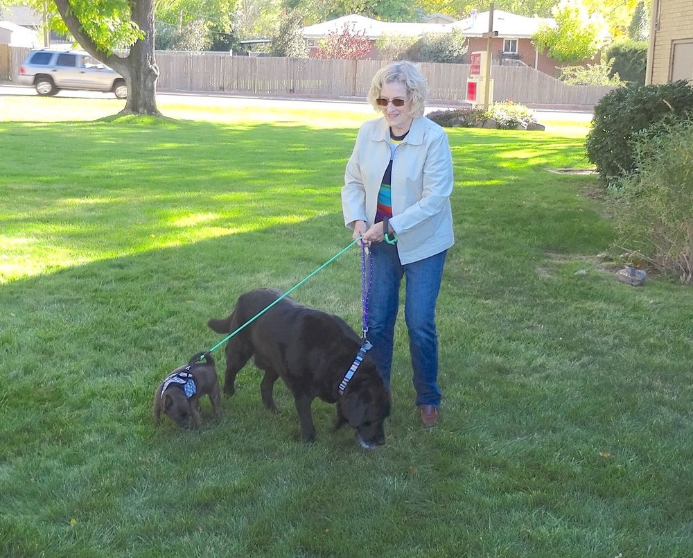 Cathy Demming at pet blessing 2017.jpg