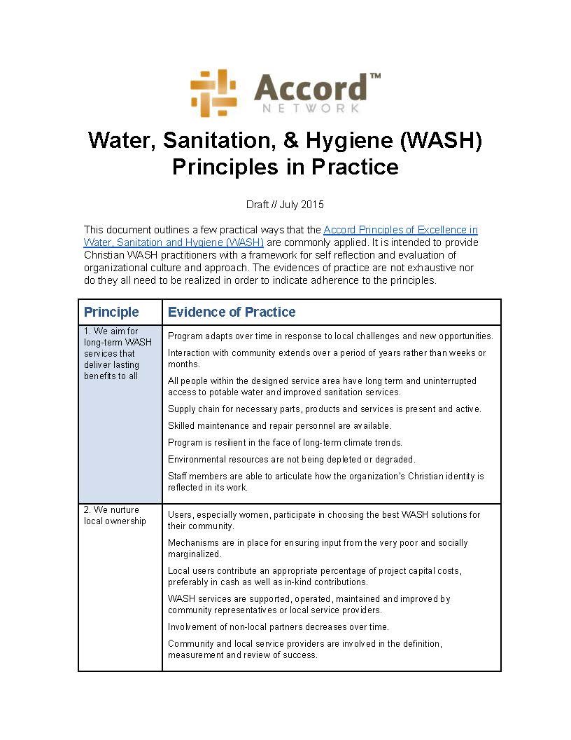 2015_WASH Principles in Practice