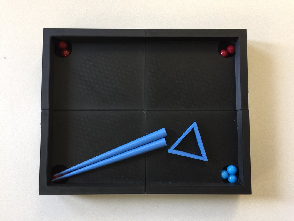 The billiard game table made and 3D printed by two gr 5-6 students