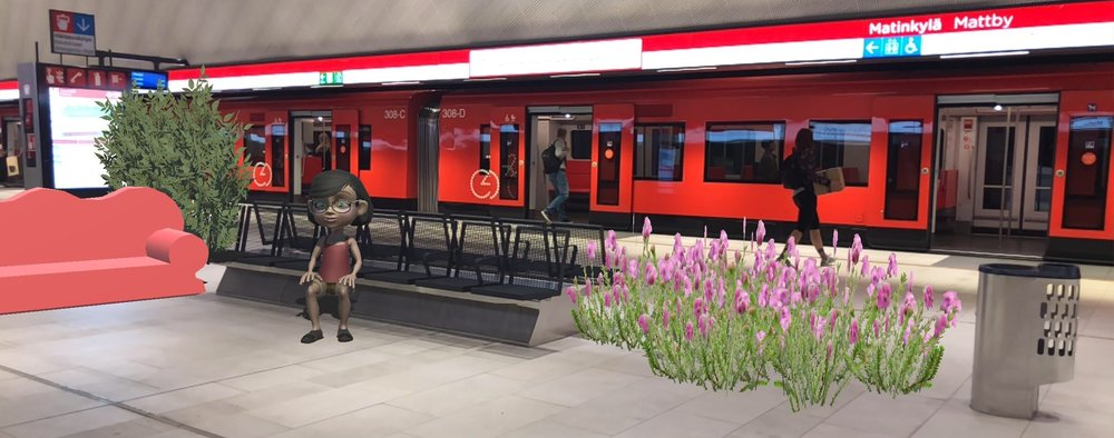 Increasing the comfort of metro stations in augmented reality