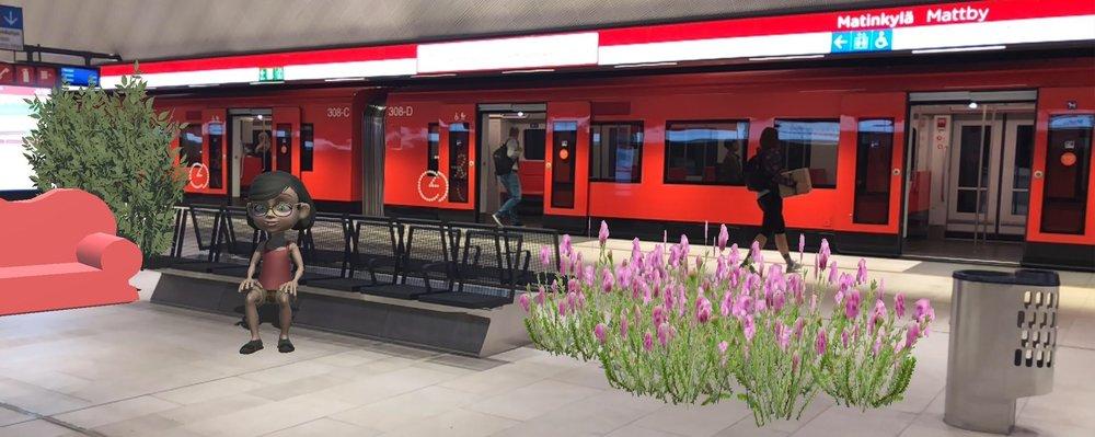 Trivsamhet vid metrostationerna i förstärkt verklighet