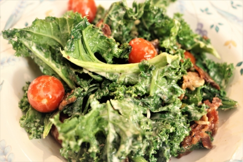 Wilted Kale BLT Salad, featured in the Chowder Soups session.
