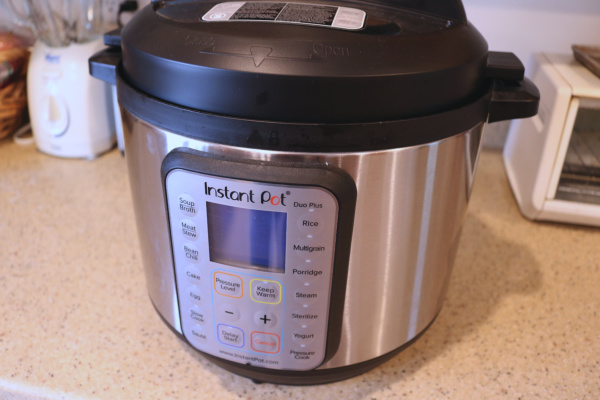 The Instant Pot Duo Plus 8 qt model, available through my affiliate link on Amazon!