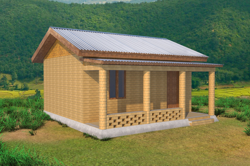 A 2-Room Home Constructed with 3,000 CSEBs