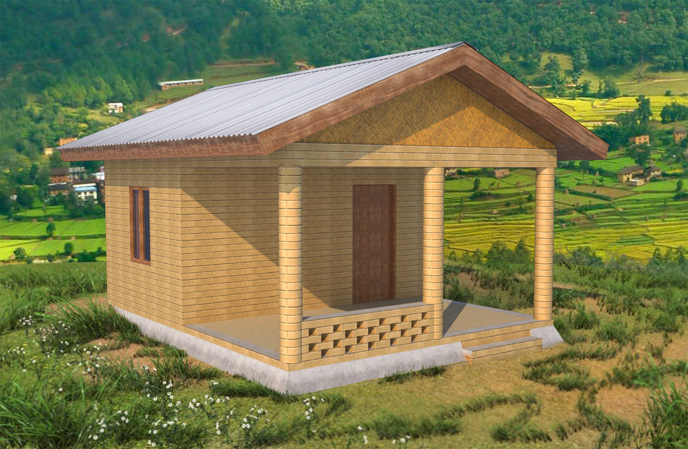 A 1-Room Home Constructed with 2,000 CSEBs