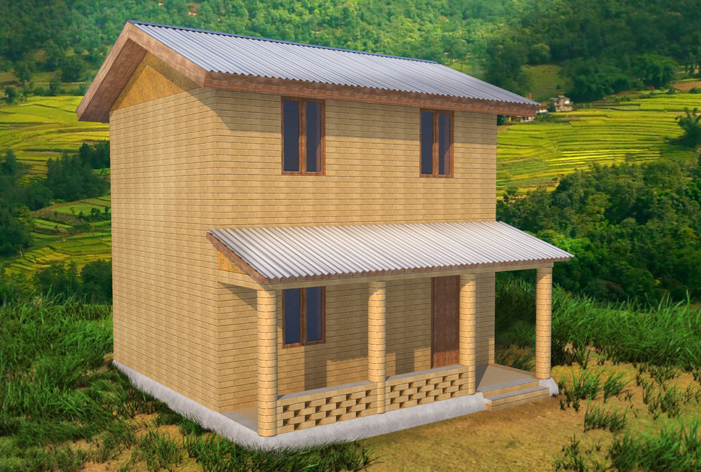 A 4-Room Home Constructed with 5,000 CSEBs