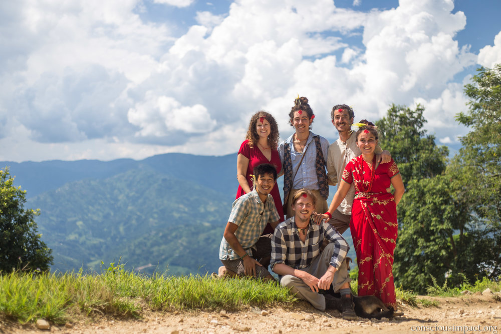 Celebrating Dashain is focused on gathering with family and loved ones. People return home from throughout the country and the world to reconnect with one-another. We are so blessed to be able to celebrate this festival at our home in Nepal!