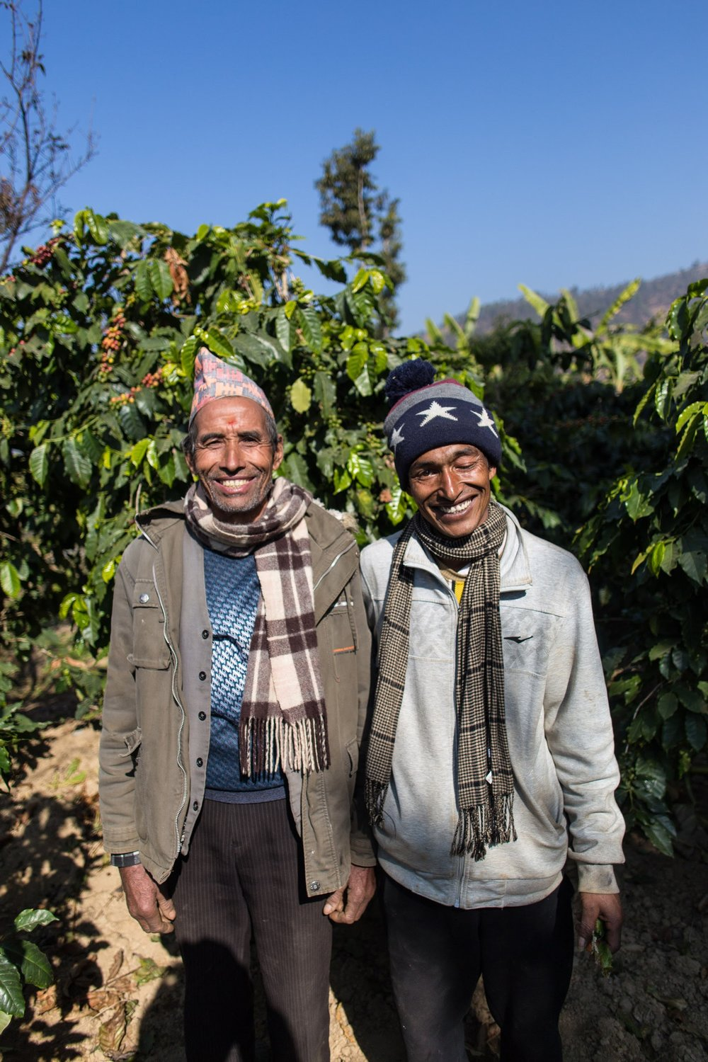 Shyam and Narayan. Two friends and farmers ready to reforest their land.