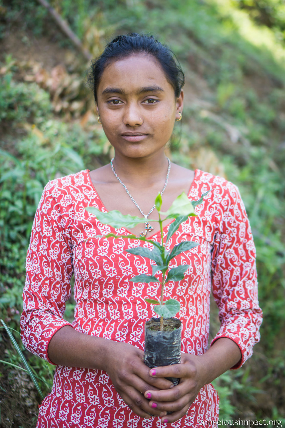 """There is a big problem with Monkeys destroying other crops and I think coffee will be good."" - Sarita Achraya"
