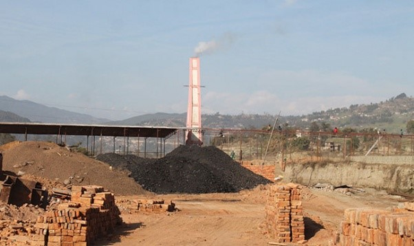 "Photo 2: A ""Bhaktapur brick"" production facility near Kathmandu. Recent studies show that this industry creates as much as 60% of the region's pollution and also relies on child labor, keeping youth out of school. Our hope is that our CSEBs will provide an environmentally sustainable alternative."
