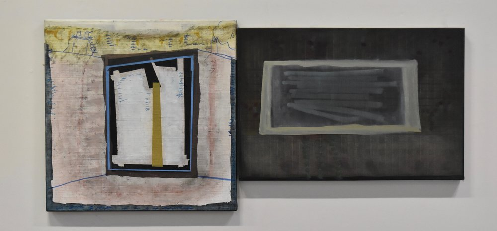 Pool Types, (diptych) 75 x 75cm, 91 x 61cm, oil on canvas, 2011-2016.