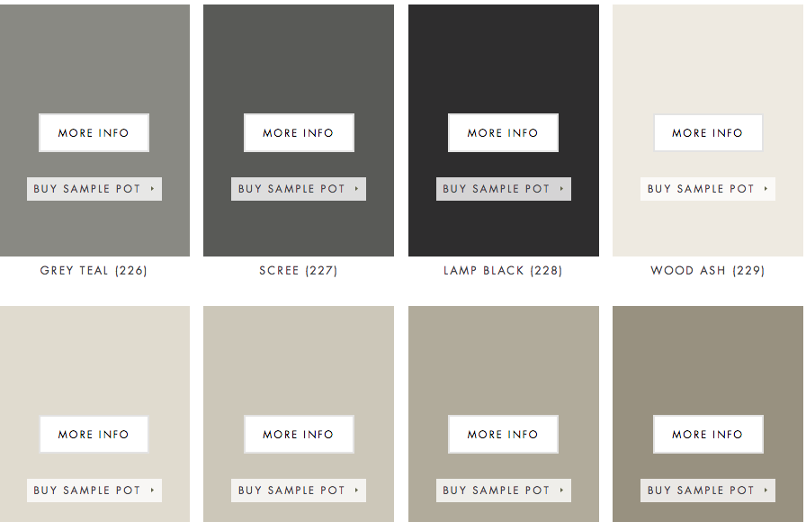 In my opinion little greene paint company have the best range of greys check them out here