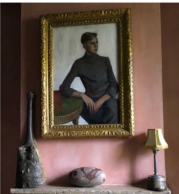 Image from Malplaquet House in London - terracotta colour inspiration for home decor.