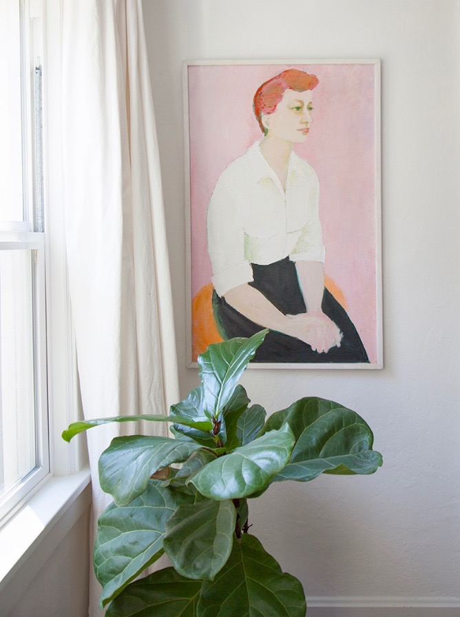 Lauren Phillips and Frank Norton's art featured in their home by Design Sponge magazine.