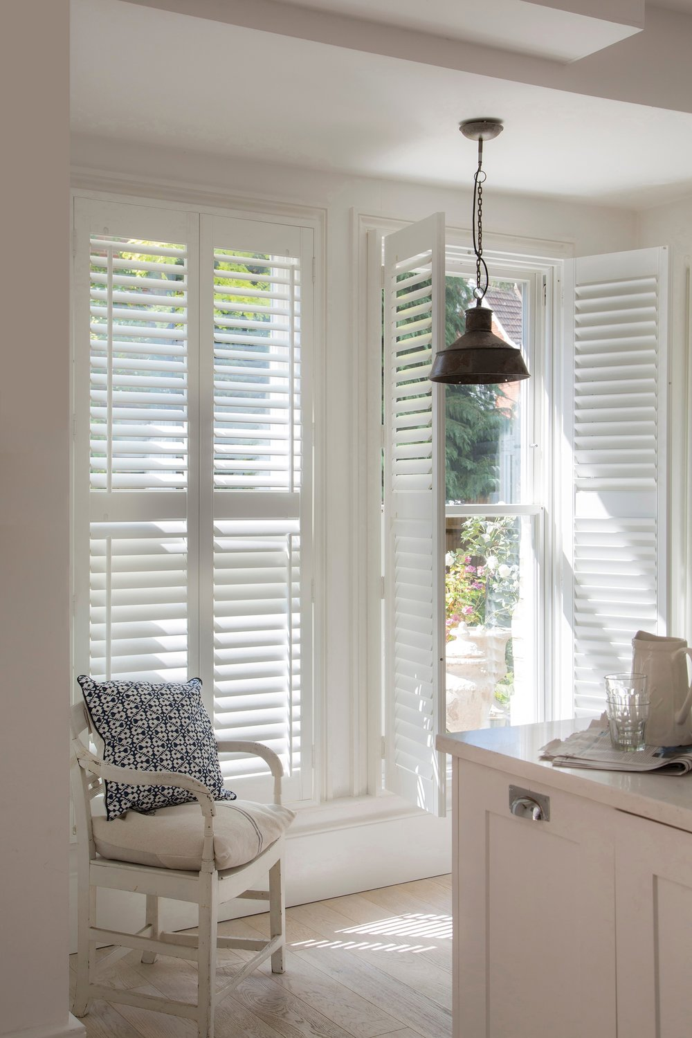 An alternative to curtains for the home are shutters by Luxaflex.