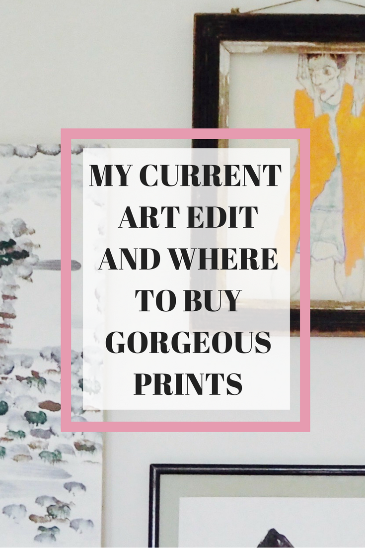 Where to find online affordable colourful and bright art prints for your home by Camilla Pearl.