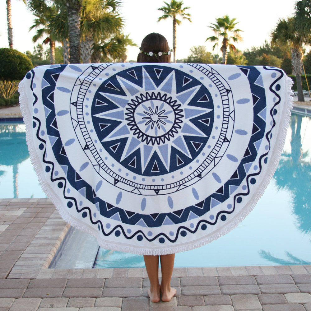 Amara round beach towel - holiday luxury essentials and gift ideas for 2017.
