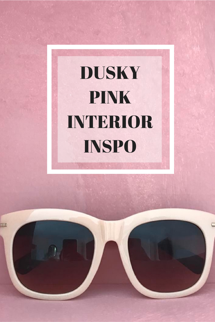 Dusky pink and terracotta tones for the living room shelves and alcoves.