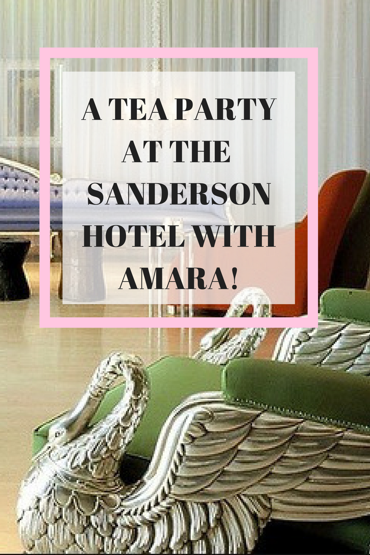 Blogger event at Sanderson Hotel with Amara Living, major decor inspiration.