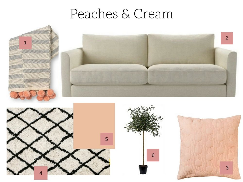 Peach decor ideas and inspiration