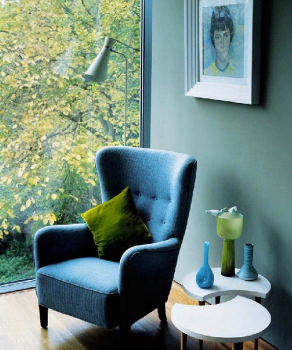 Blue and Green Interior Inspiration Image By Damian Russell