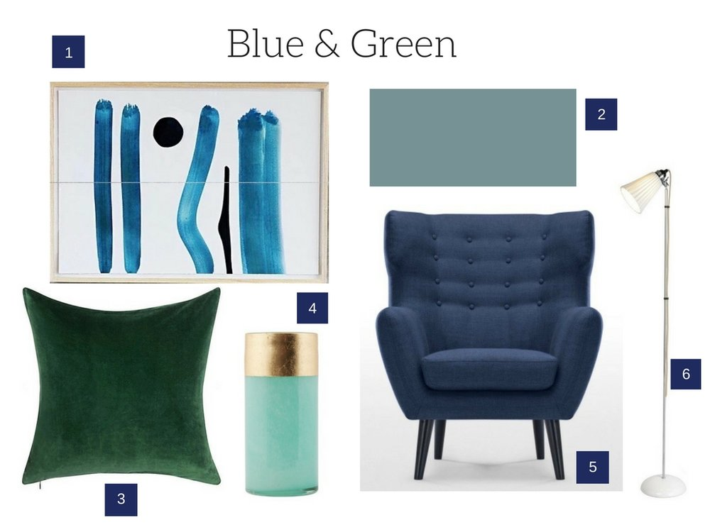 Blue and Green Decor Inspiration